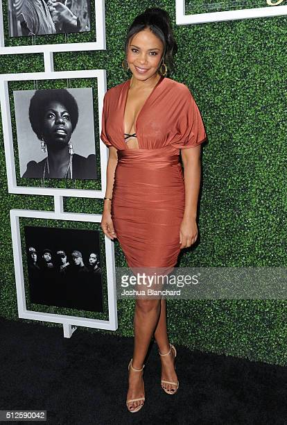 Actress Sanaa Lathan attends Common's Toast to the Arts sponsored by Remy Martin at Ysabel on February 26 2016 in West Hollywood California