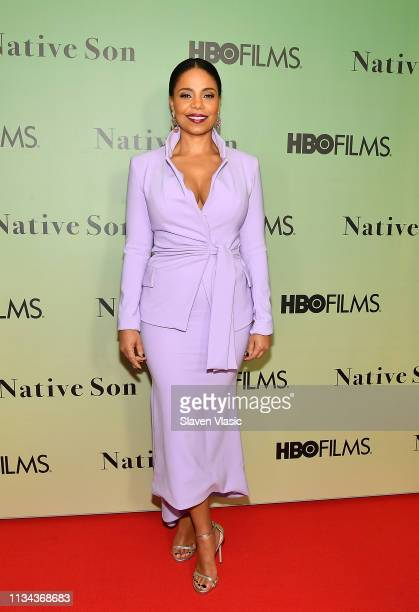 Actress Sanaa Lathan attends HBO's Native Son screening at Guggenheim Museum on April 1 2019 in New York City