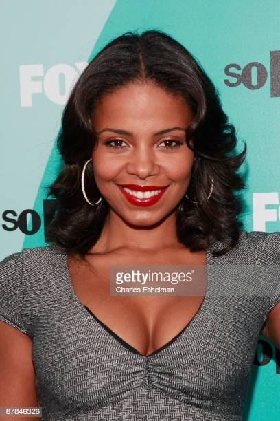Actress Sanaa Lathan attends the 2009 FOX UpFront after party at Wollman Rink Central Park on May 18 2009 in New York City