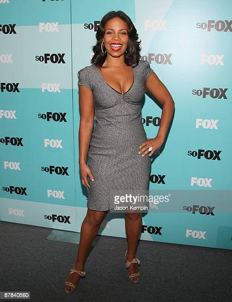 Actress Sanaa Lathan attends the 2009 FOX UpFront after party at the Wollman Rink in Central Park on May 18 2009 in New York City