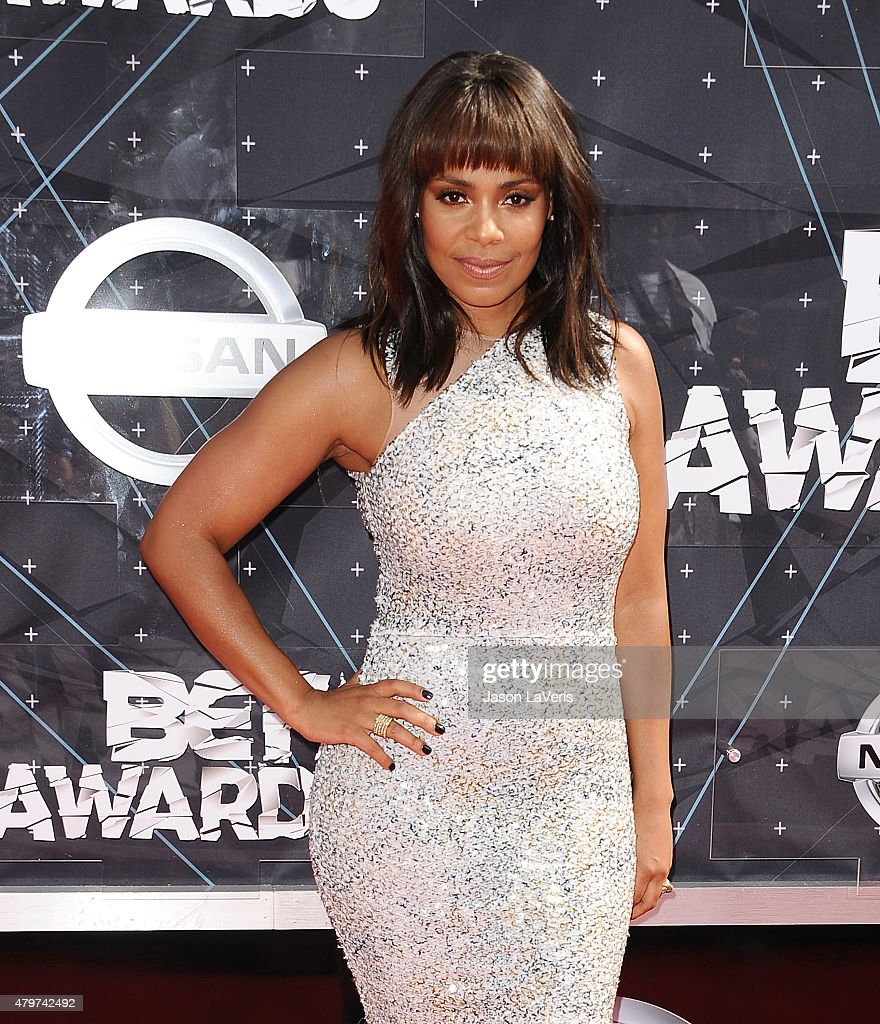 Actress Sanaa Lathan attends the 2015 BET Awards at the Microsoft Theater on June 28, 2015 in Los Angeles, California.