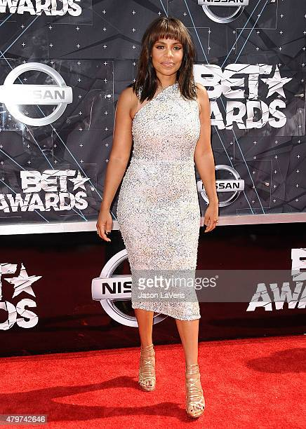 Actress Sanaa Lathan attends the 2015 BET Awards at the Microsoft Theater on June 28 2015 in Los Angeles California