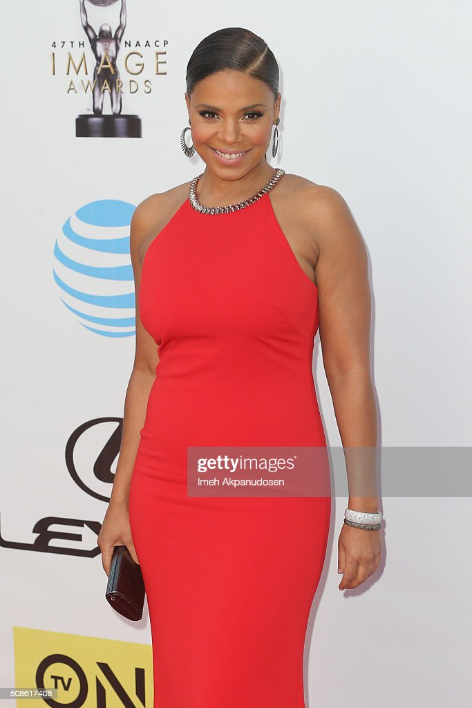 Actress Sanaa Lathan attends the 47th NAACP Image Awards presented by TV One at Pasadena Civic Auditorium on February 5, 2016 in Pasadena, California.