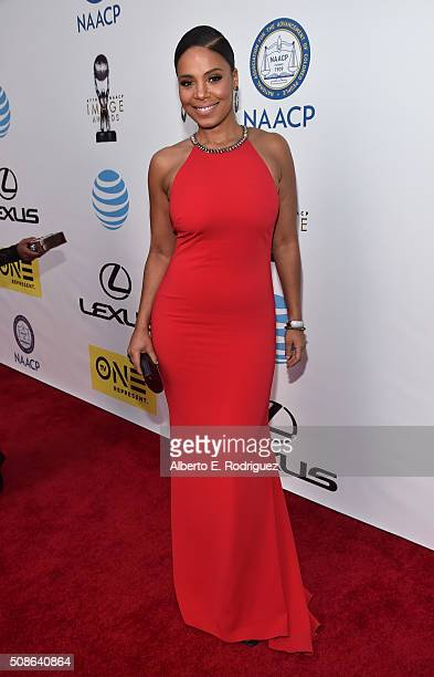 Actress Sanaa Lathan attends the 47th NAACP Image Awards presented by TV One at Pasadena Civic Auditorium on February 5 2016 in Pasadena California