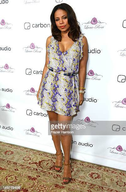 Actress Sanaa Lathan attends the Carbon Audio's Zooka Launch Party on August 3 2012 in West Hollywood California