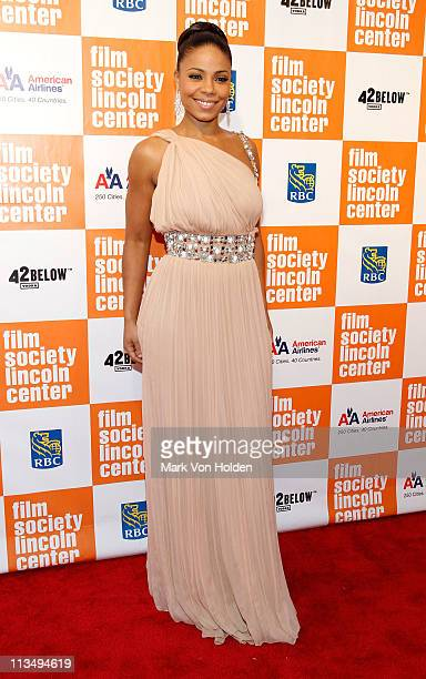 Actress Sanaa Lathan attends The Film Society of Lincoln Center's presentation of the 38th Annual Chaplin Award at Alice Tully Hall on May 2, 2011 in...
