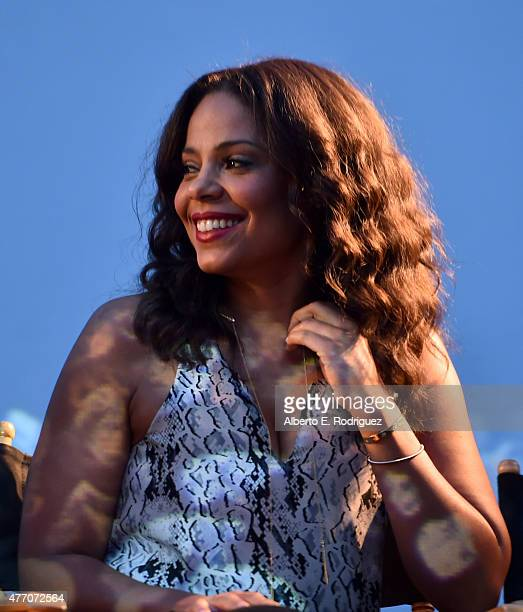 Actress Sanaa Lathan attends the Love and Basketball screening during the 2015 Los Angeles Film Festival at Regal Cinemas LA Live on June 13 2015 in...