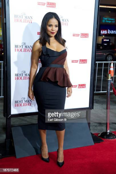 Actress Sanaa Lathan attends the premiere for the movie 'The Best Man Holiday' at TCL Chinese Theatre on November 5 2013 in Hollywood California