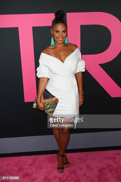 Actress Sanaa Lathan attends the premiere of Universal Pictures' Girls Trip at Regal LA Live Stadium 14 on July 13 2017 in Los Angeles California