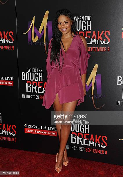 Actress Sanaa Lathan attends the premiere of 'When the Bough Breaks' at Regal LA Live Stadium 14 on August 28 2016 in Los Angeles California