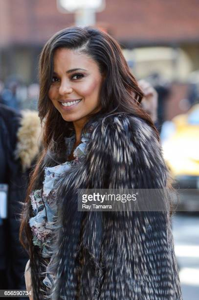 Actress Sanaa Lathan enters the 'AOL Build' taping at the AOL Studios on March 22 2017 in New York City