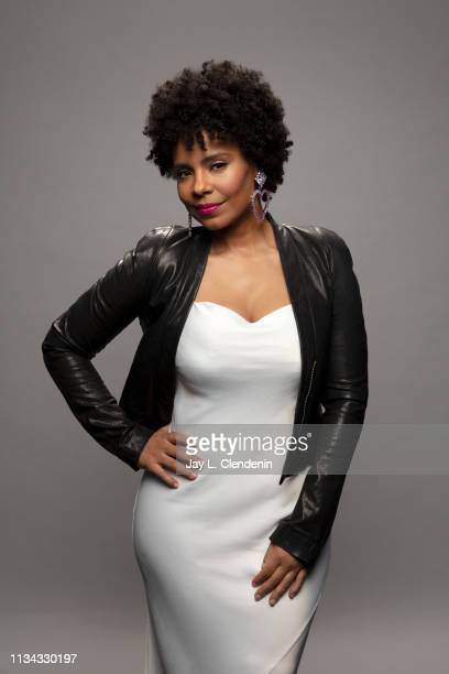 Actress Sanaa Lathan from 'The Twilight Zone' is photographed for Los Angeles Times on March 24 2019 during PaleyFest at the Dolby Theatre in...