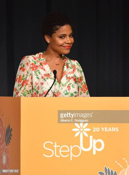 Actress Sanaa Lathan on stage at Step Up's 14th Annual Inspiration Awards at the Beverly Wilshire Four Seasons Hotel on June 1 2018 in Beverly Hills...