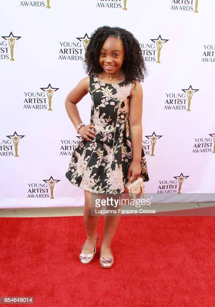Actress Sanai Victoria attends the 38th Annual Young Artists Awards at Alex Theatre on March 17 2017 in Glendale California