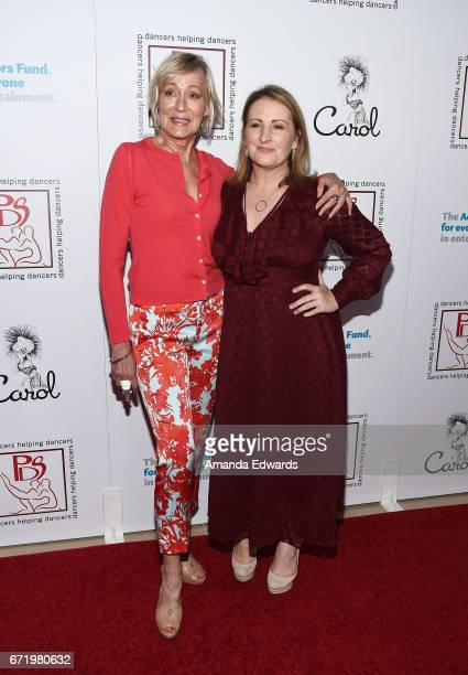 Actress Sandahl Bergman and choreographer Mandy Moore arrive at the 30th Annual Gypsy Awards Luncheon at The Beverly Hilton Hotel on April 23 2017 in...