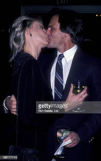 Actress Sandahl Bergman and Josh Taylor attend the premiere party for 'Getting Physical' on March 9 1984 at Jimmy's Restaurant in Beverly Hills...