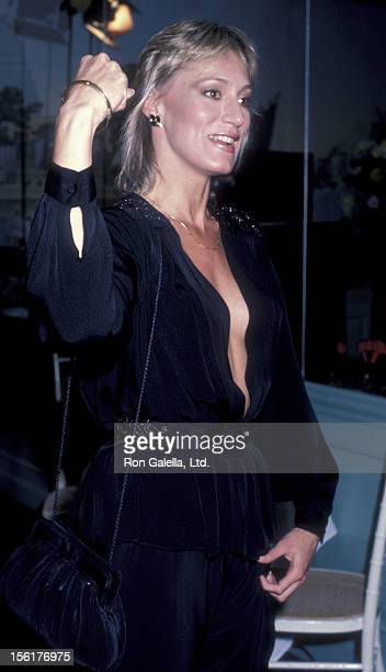 Actress Sandahl Bergman attends the premiere party for 'Getting Physical' on March 9 1984 at Jimmy's Restaurant in Beverly Hills California