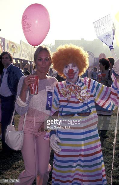Actress Sandahl Bergman attends UCLA Mardi Gras Celebration on May 21 1983 at UCLA Campus in Westwood California