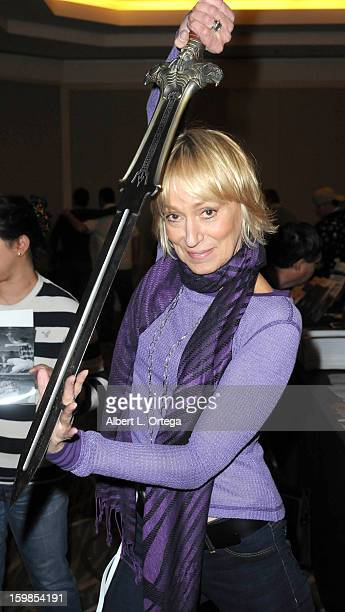 Actress Sandahl Bergman participates in The Hollywood Show Day 2 held at Westin Los Angeles Airport on January 13 2013 in Los Angeles California