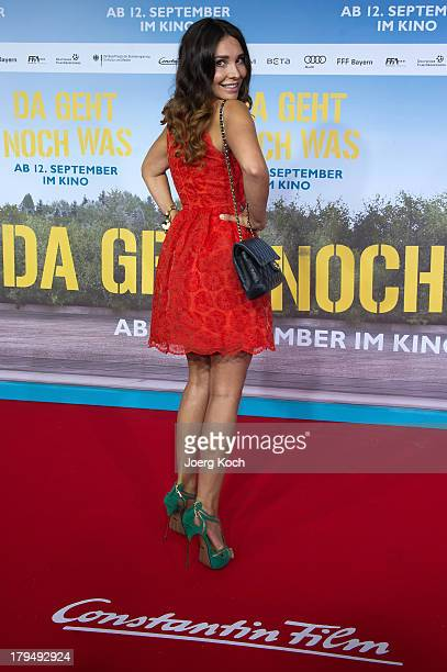 Actress Sandra Ahrabian poses at the 'Da geht noch was' Germany premiere at Mathaeser on September 4 2013 in Munich Germany