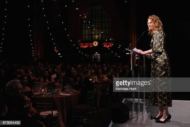 Actress Sandra Bernhard speaks onstage at the City Harvest's 23rd Annual Evening Of Practical Magic at Cipriani 42nd Street on April 25, 2017 in New...