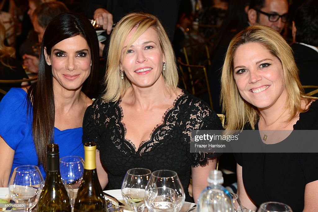 Actress Sandra Bullock, actress/comedienne Chelsea Handler, and actress Mary McCormack attend the 2014 AFI Life Achievement Award: A Tribute to Jane Fonda at the Dolby Theatre on June 5, 2014 in Hollywood, California. Tribute show airing Saturday, June 14, 2014 at 9pm ET/PT on TNT.