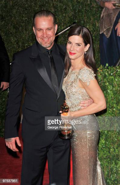 Actress Sandra Bullock and her husband Jesse James arrive at the 2010 Vanity Fair Oscar Party Hosted By Graydon Carter at Sunset Tower on March 7...