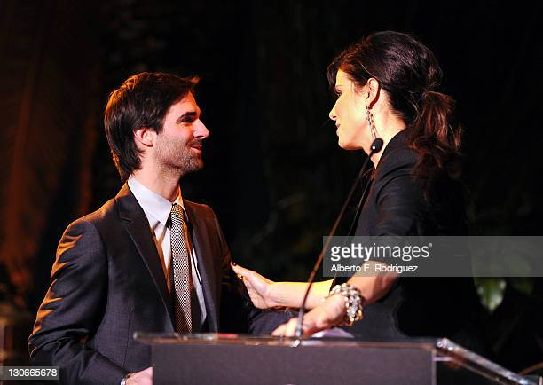 Actress Sandra Bullock and Quinn Tivey attend The 2011 amfAR Inspiration Gala Los Angeles held at the Chateau Marmont on October 27 2011 in Los...