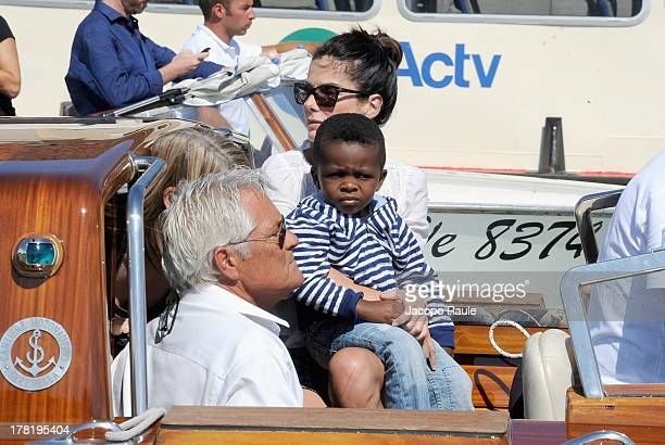 Actress Sandra Bullock and son Louis Bardo Bullock are seen during the 70th Venice International Film Festival on August 27, 2013 in Venice, Italy.