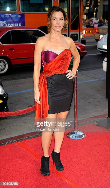 Actress Sandra Bullock arrive at the premiere of Twentieth Century Fox's 'All About Steve' held at Mann's Chinese Theater on August 26 2009 in Los...