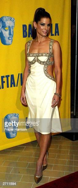 Actress Sandra Bullock arrives at the 12th Annual BAFTA/LA Britannia Awards held at the Century Plaza Hotel on November 8, 2003 in Los Angeles, CA.