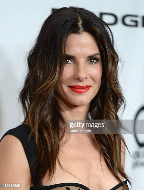 Actress Sandra Bullock arrives at the 17th annual Hollywood Film Awards at The Beverly Hilton Hotel on October 21 2013 in Beverly Hills California