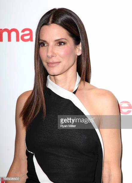 Actress Sandra Bullock arrives at the 20th Century Fox Cinemacon Press Conference at Caesars Palace during CinemaCon the official convention of the...