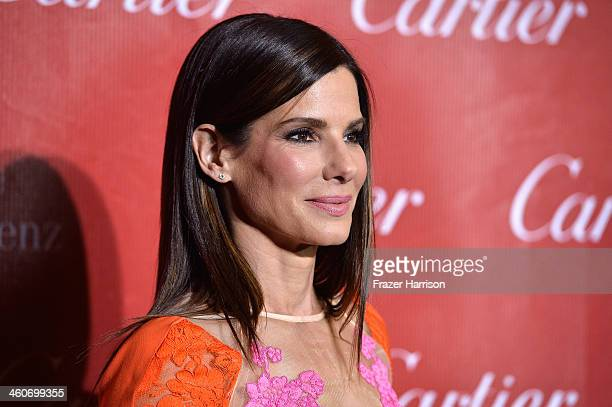 Actress Sandra Bullock arrives at the 25th Annual Palm Springs International Film Festival Awards Gala at Palm Springs Convention Center on January...