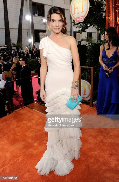 Actress Sandra Bullock arrives at the 66th Annual Golden Globe Awards held at the Beverly Hilton Hotel on January 11 2009 in Beverly Hills California