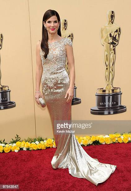 Actress Sandra Bullock arrives at the 82nd Annual Academy Awards at the Kodak Theatre on March 7 2010 in Hollywood California