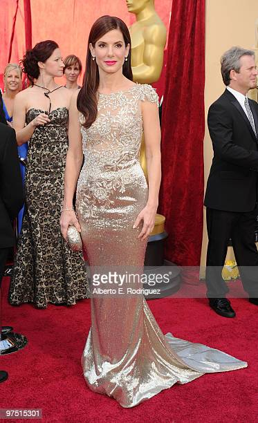 Actress Sandra Bullock arrives at the 82nd Annual Academy Awards held at Kodak Theatre on March 7 2010 in Hollywood California