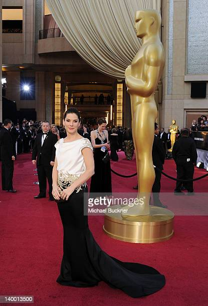 Actress Sandra Bullock arrives at the 84th Annual Academy Awards held at the Hollywood Highland Center on February 26 2012 in Hollywood California