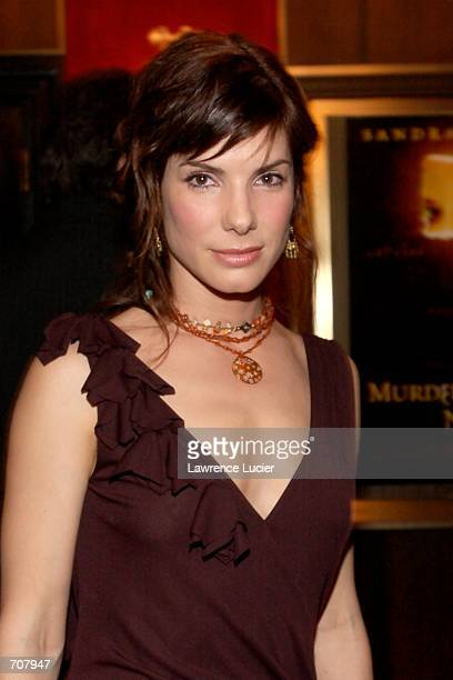 Actress Sandra Bullock arrives at the premiere of the film Murder by Numbers April 16 2002 in New York City Bullock stars in the film