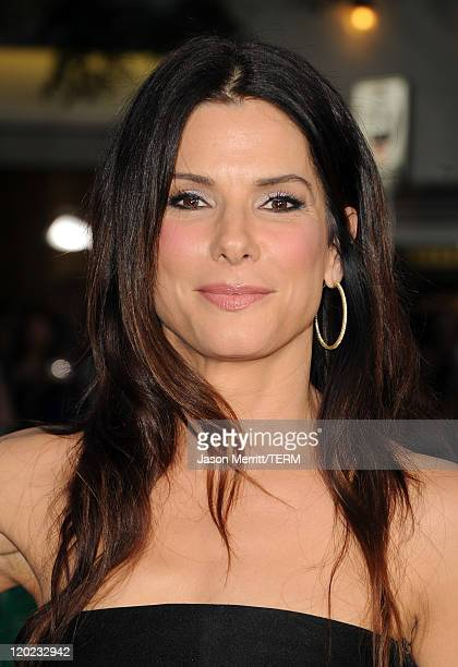 Actress Sandra Bullock arrives at the premiere of Universal Pictures' 'The ChangeUp' held at the Regency Village Theatre on August 1 2011 in Los...