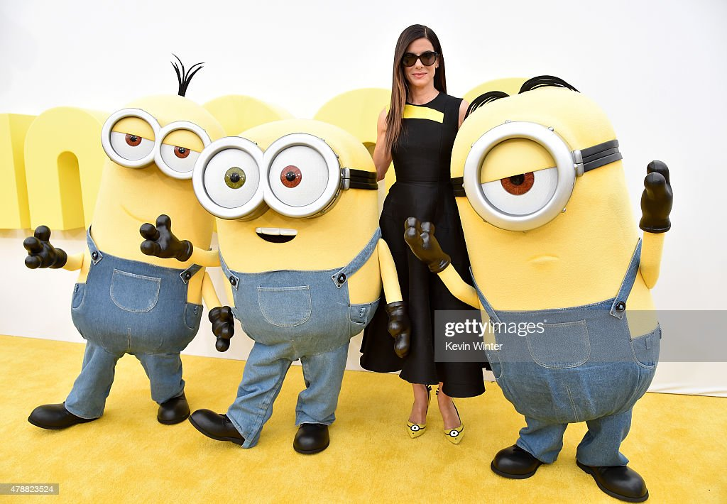 Actress Sandra Bullock arrives at the premiere of Universal Pictures and Illumination Entertainment's 'Minions' at the Shrine Auditorium on June 27, 2015 in Los Angeles, California.