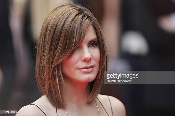 US actress Sandra Bullock arrives at the UK premiere of 'The Lake House' at the Vue West End on June 19 in London England