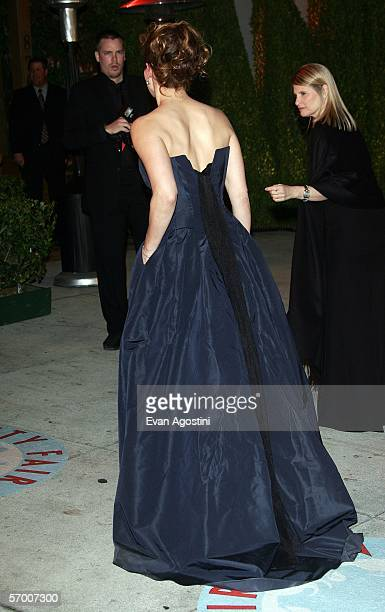 Actress Sandra Bullock arrives at the Vanity Fair Oscar Party at Mortons on March 5 2006 in West Hollywood California