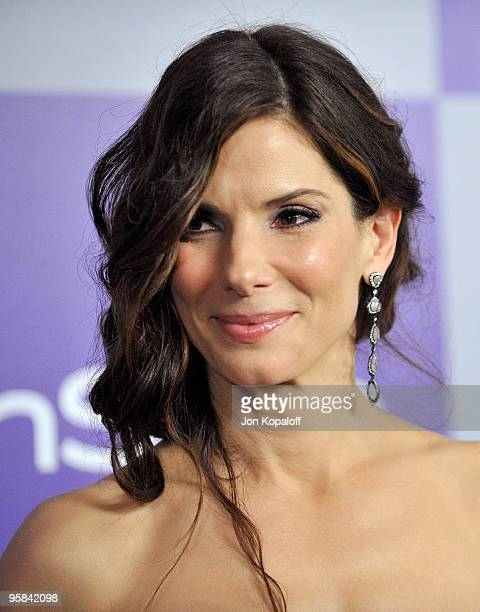 Actress Sandra Bullock arrives at the Warner Brothers/InStyle Golden Globes After Party at The Beverly Hilton Hotel on January 17 2010 in Beverly...