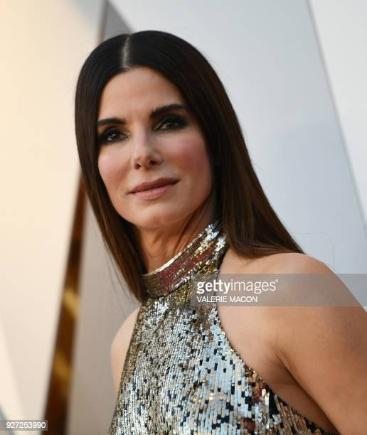 Actress Sandra Bullock arrives for the 90th Annual Academy Awards on March 4 in Hollywood California / AFP PHOTO / VALERIE MACON