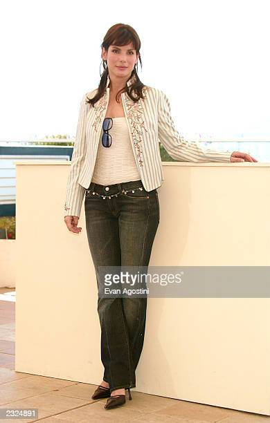 Actress Sandra Bullock at the 'Murder By Numbers' Photo Call during the 55th Cannes Film Festival in Cannes France May 25 2002 Photo Evan...
