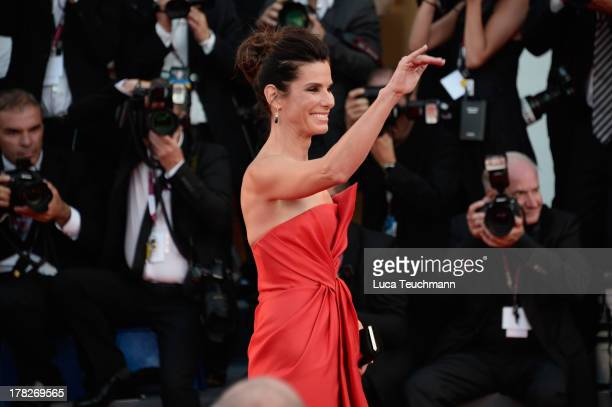 Actress Sandra Bullock attends 'Gravity' premiere and Opening Ceremony during The 70th Venice International Film Festival at Sala Grande on August 28...