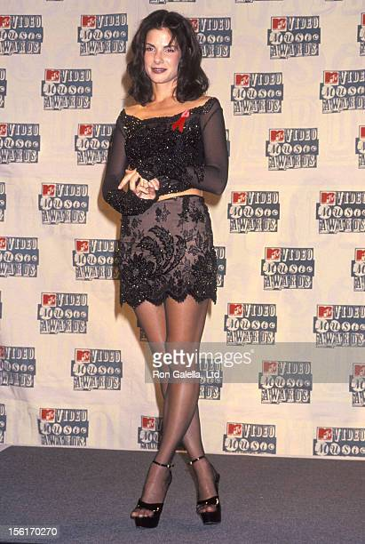 Actress Sandra Bullock attends the 11th Annual MTV Video Music Awards on September 8 1994 at Radio City Music Hall in New York City