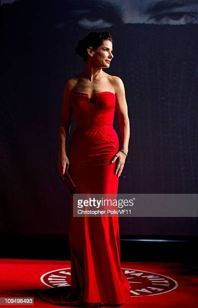 Actress Sandra Bullock attends the 2011 Vanity Fair Oscar Party Hosted by Graydon Carter at the Sunset Tower Hotel on February 27 2011 in West...
