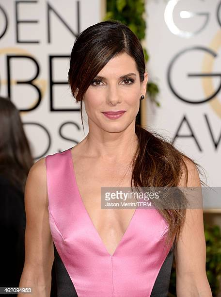 Actress Sandra Bullock attends the 71st Annual Golden Globe Awards held at The Beverly Hilton Hotel on January 12 2014 in Beverly Hills California
